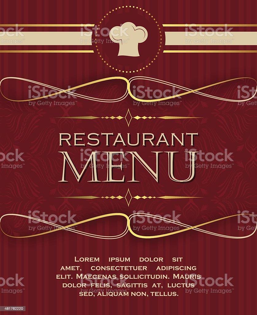 Ilustración de Portada Plantilla De Diseño De Menú De Restaurante En ...