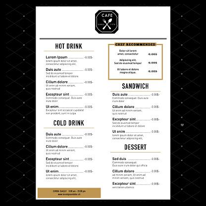 Restaurantmenüdesignvorlage Elemente Mit Text Grafik Anordnung Stock Vektor Art und mehr Bilder von 2015