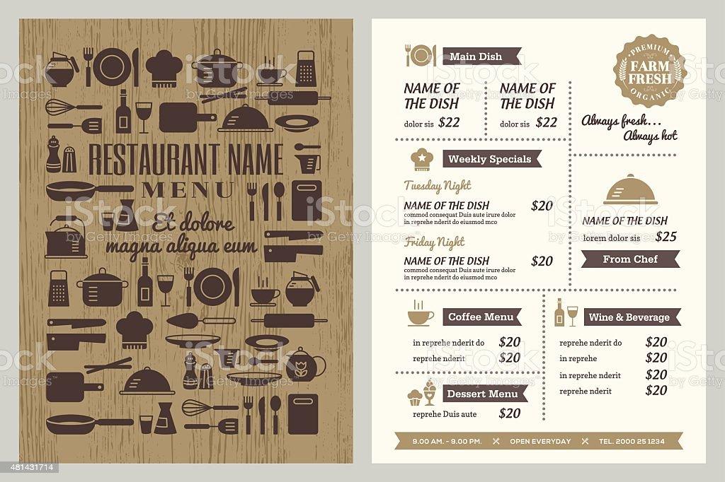 Restaurant Menu Design Template Stock Illustration Download