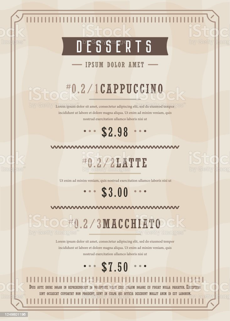 Restaurant Menu Design Template Vectror Stock Illustration Download Image Now Istock