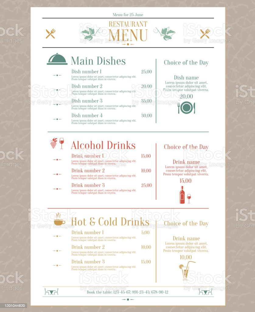 Restaurant Menu Design Stock Illustration Download Image Now Istock