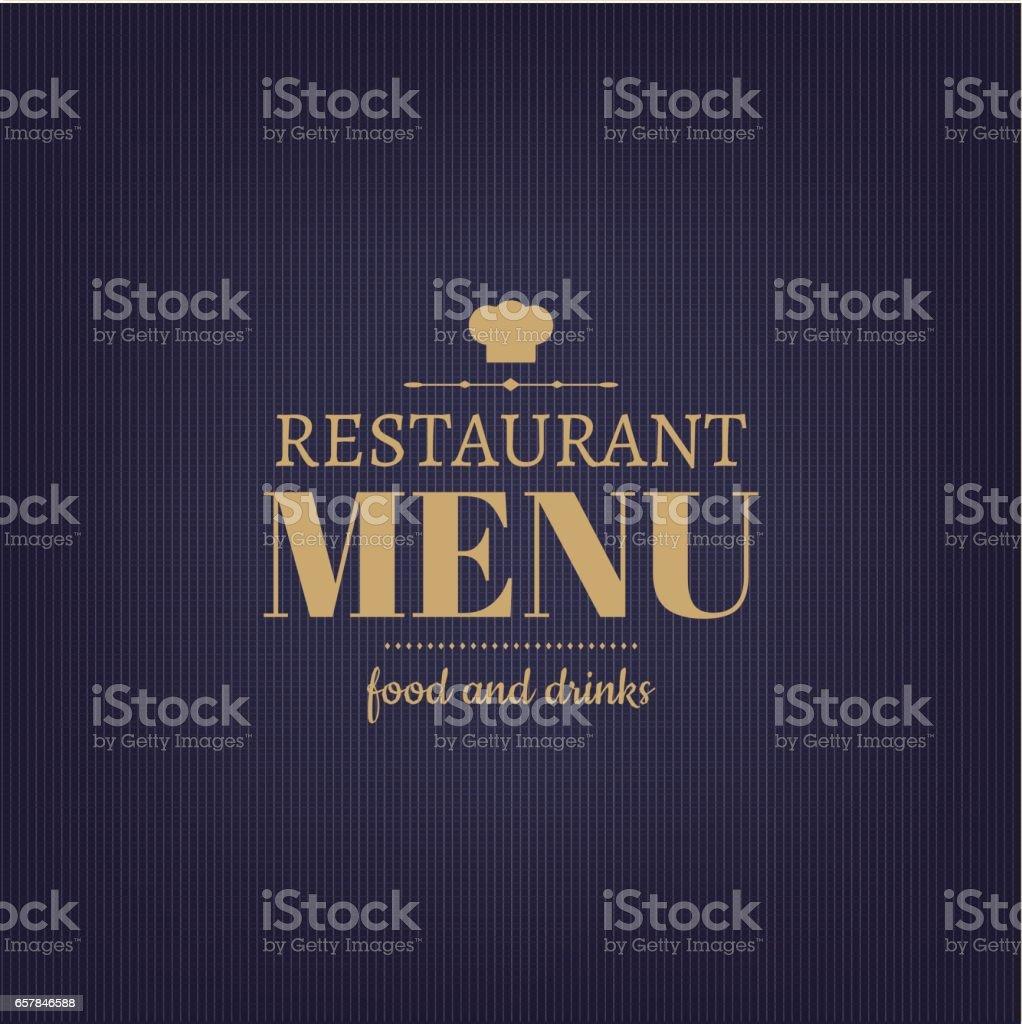 Design Restaurant Menu - Illustration vectorielle