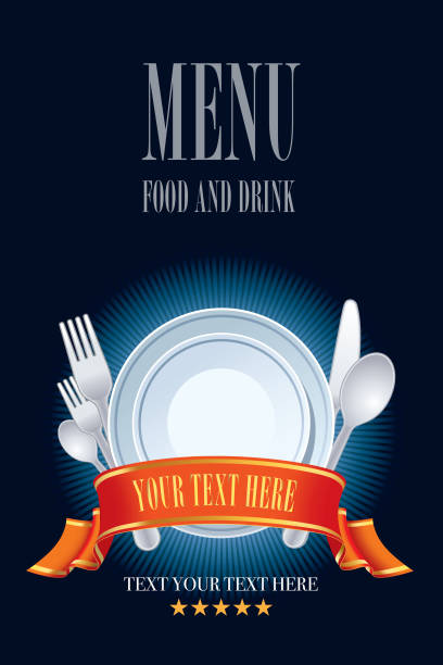 stockillustraties, clipart, cartoons en iconen met restaurant menu ontwerp - gedekte tafel
