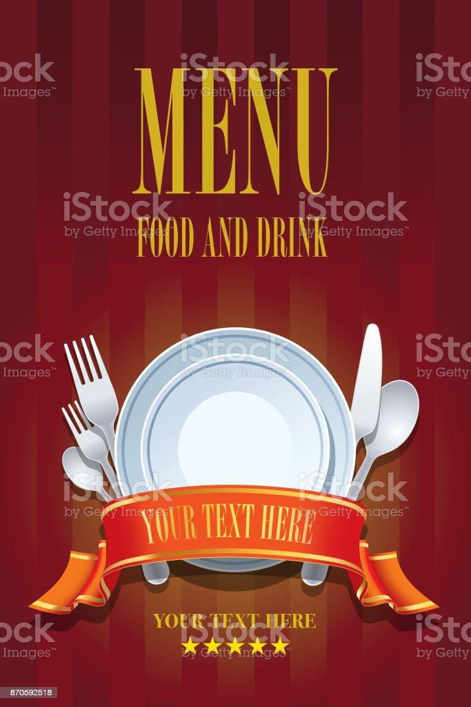 Restaurant menu design vector art illustration