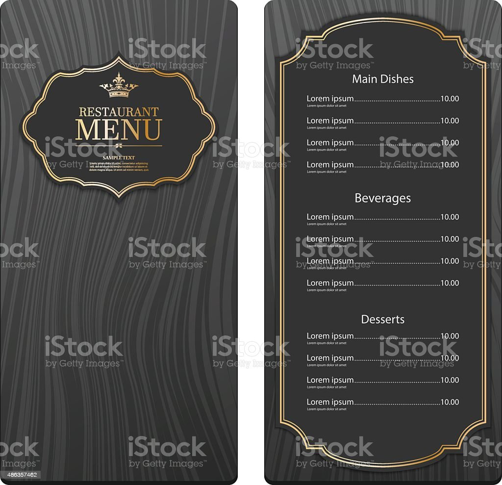 Restaurant menu design. vector vector art illustration