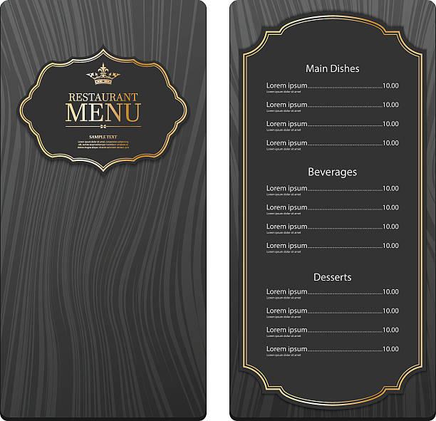 illustrazioni stock, clip art, cartoni animati e icone di tendenza di vettore ristorante menu design - pranzo di natale