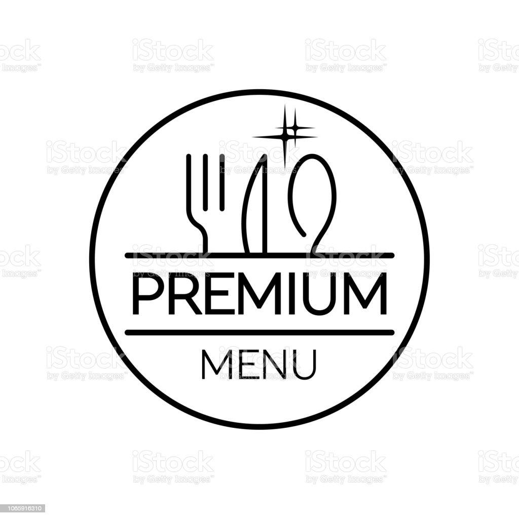 Menu du restaurant. Design plat. Premium - Illustration vectorielle