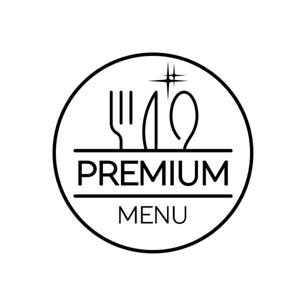 illustrations, cliparts, dessins animés et icônes de menu du restaurant. design plat. premium - logos restauration