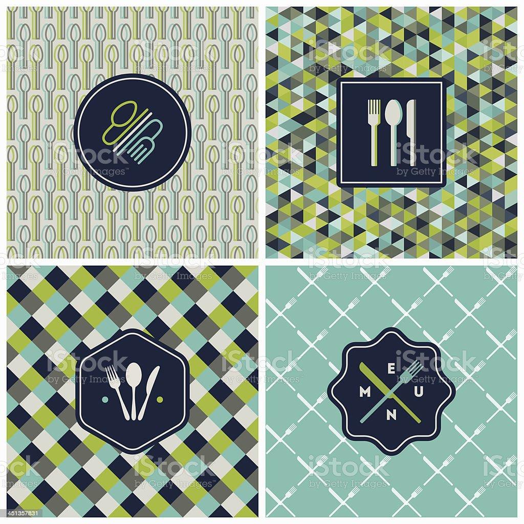 Restaurant menu seamless design vector art illustration