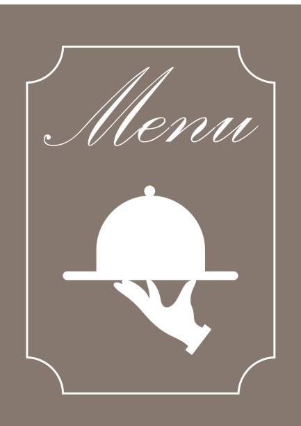 restaurant menu menu serving dish stock illustrations
