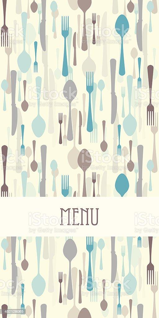 Restaurant menu with cutlery royalty-free stock vector art