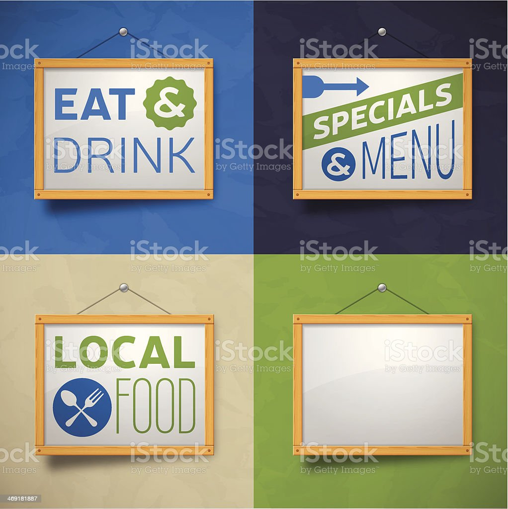 Restaurant Messages royalty-free stock vector art