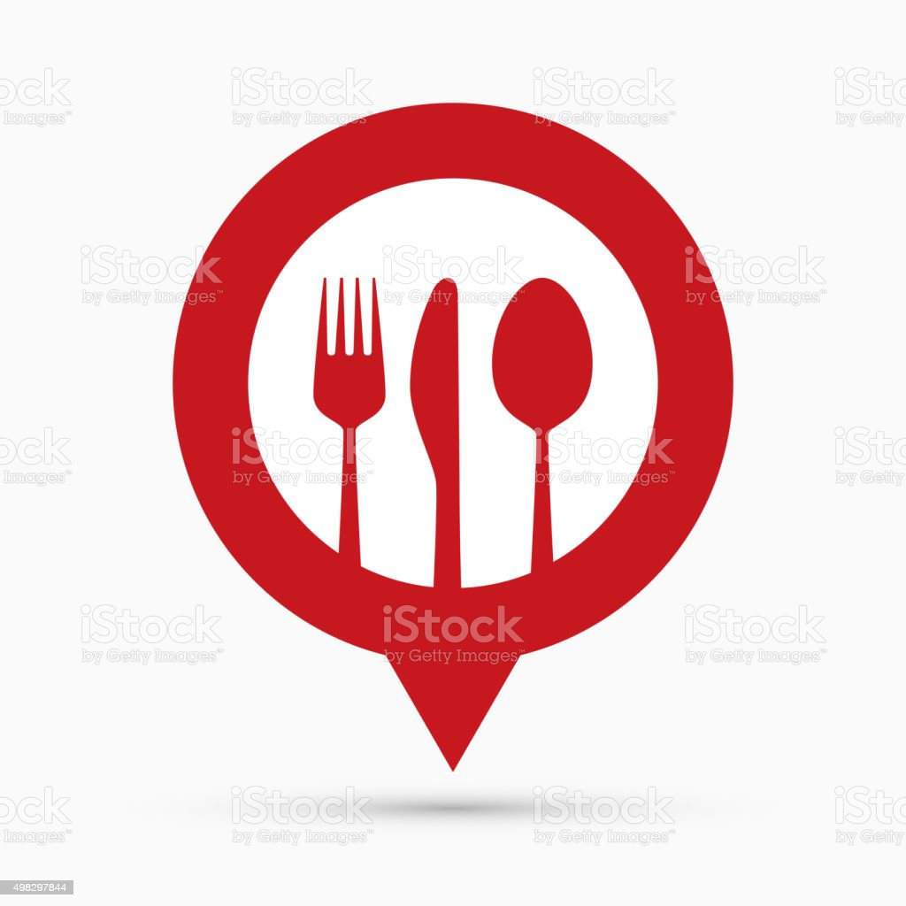 Restaurant navigation mark vector art illustration
