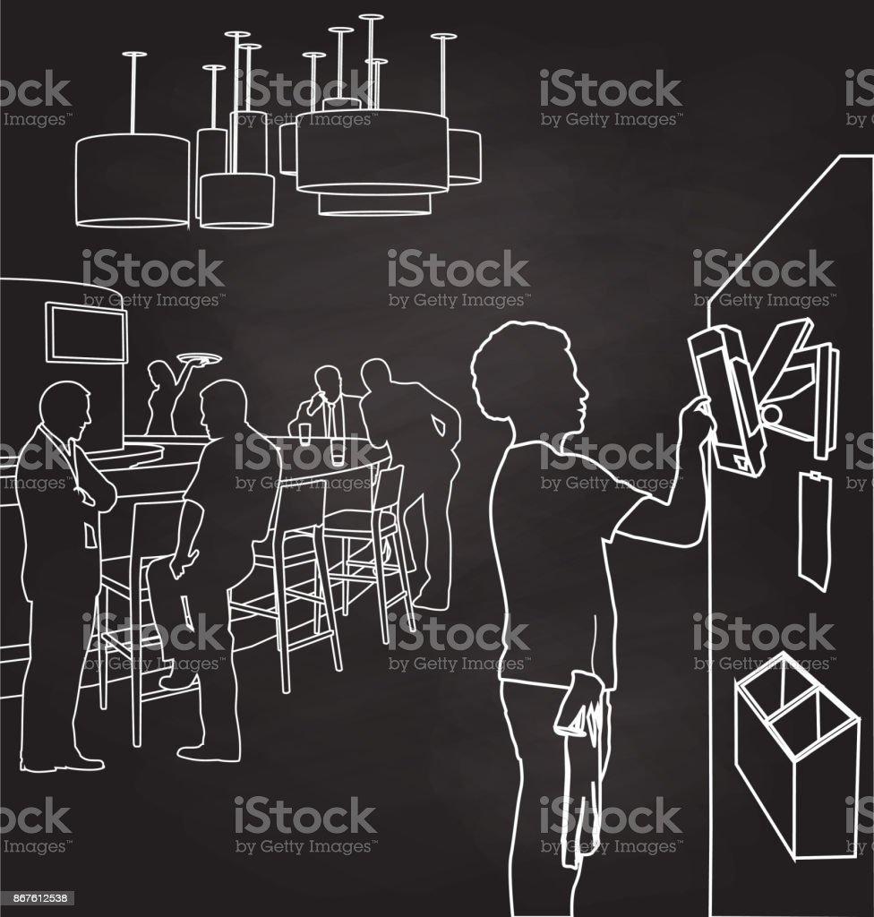 Ambiance Et Style Tableau tableau de commande restaurant vecteurs libres de droits et