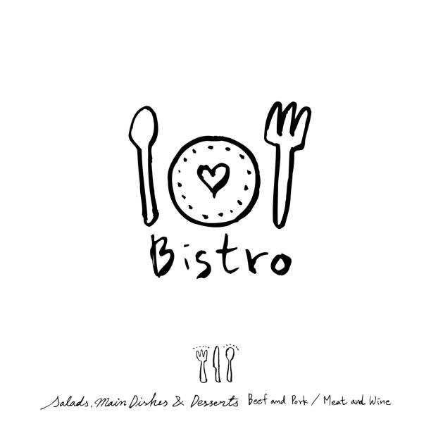 stockillustraties, clipart, cartoons en iconen met restaurant poster - breakfast table