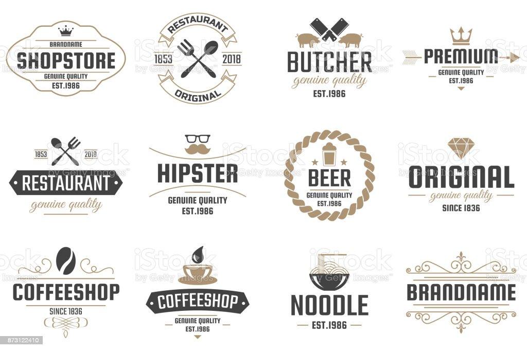 Restaurant Retro Vector Logo for banner vector art illustration