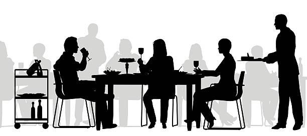 Best Restaurant Busy Illustrations, Royalty-Free Vector ...