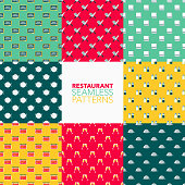 Restaurant Seamless Pattern Set