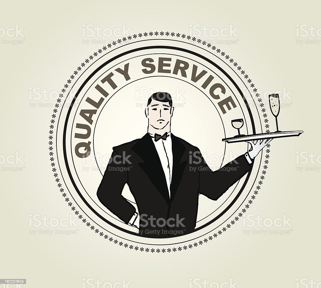 Restaurant service vector labe vector art illustration