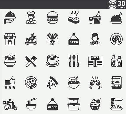 Restaurant Silhouette Icons