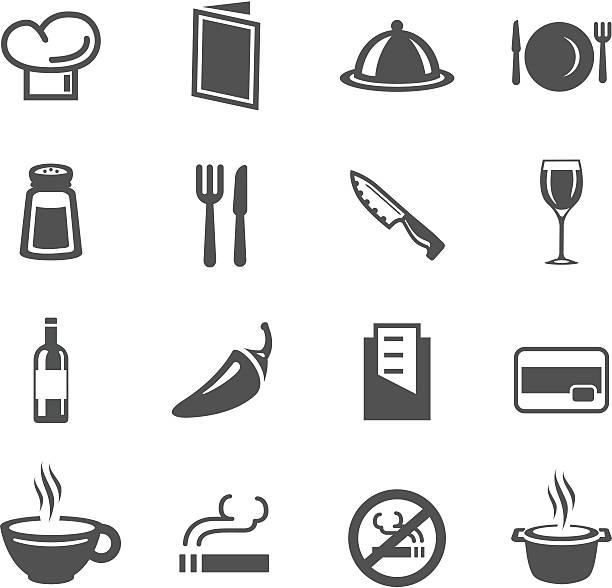 stockillustraties, clipart, cartoons en iconen met restaurant symbols - gedekte tafel