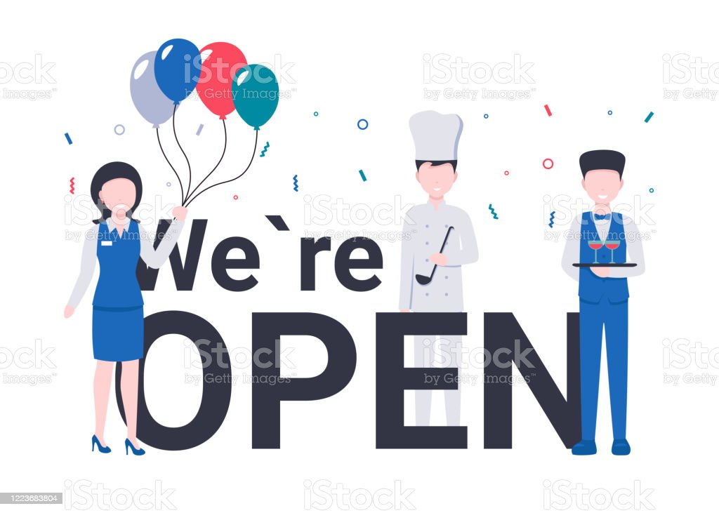 Restaurant Team We Are Open Concept Stock Illustration Download Image Now Istock