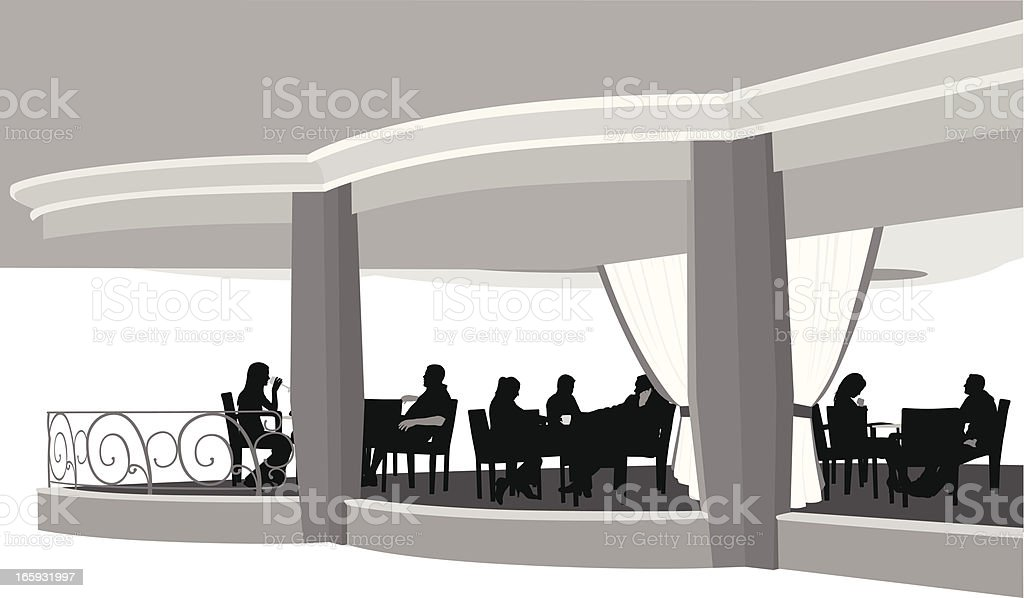 Restaurant Vector Silhouette royalty-free stock vector art