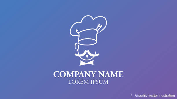 restaurant/chef icon design template - editable company name, usable for web design, printable, visit cards, brand or icon. vector illustration for places to eat, to drink, fast foods. - food delivery stock illustrations