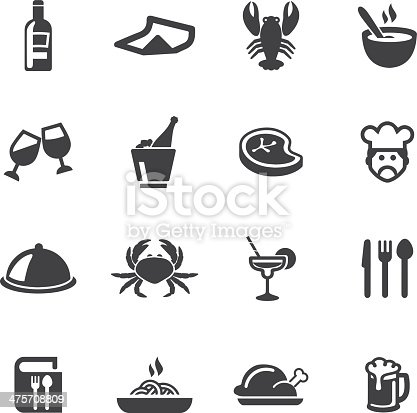 Restaurants Silhouette Icons EPS 10