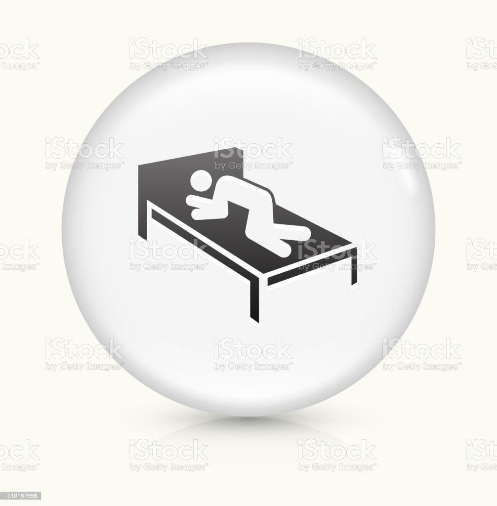 Resting icon on white round vector button vector art illustration