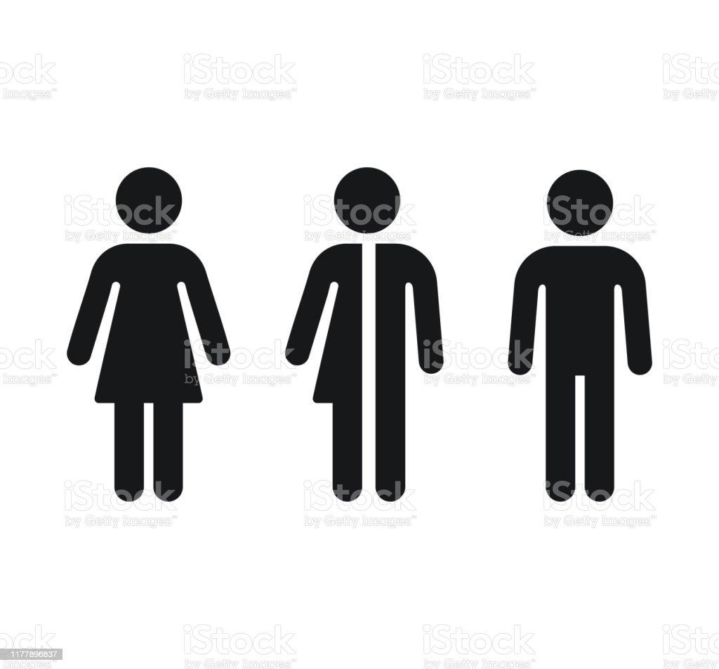 Toiletten-Geschlechtssymbole - Lizenzfrei ClipArt Vektorgrafik