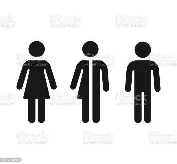 Toilettengeschlechtssymbole Stock Vektor Art und mehr Bilder von ClipArt