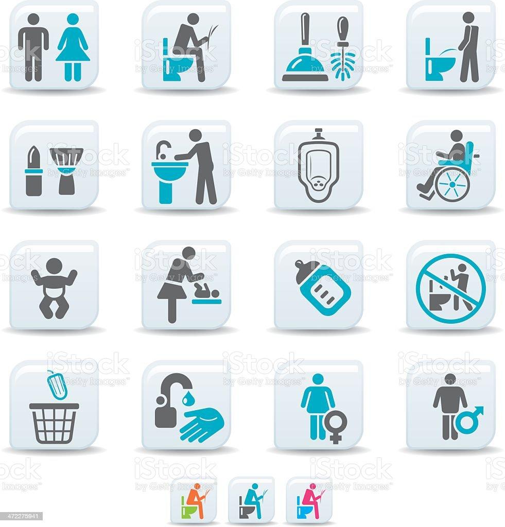 Toilette Symbolesimicoso Kollektion Stock Vektor Art Und Mehr Bilder
