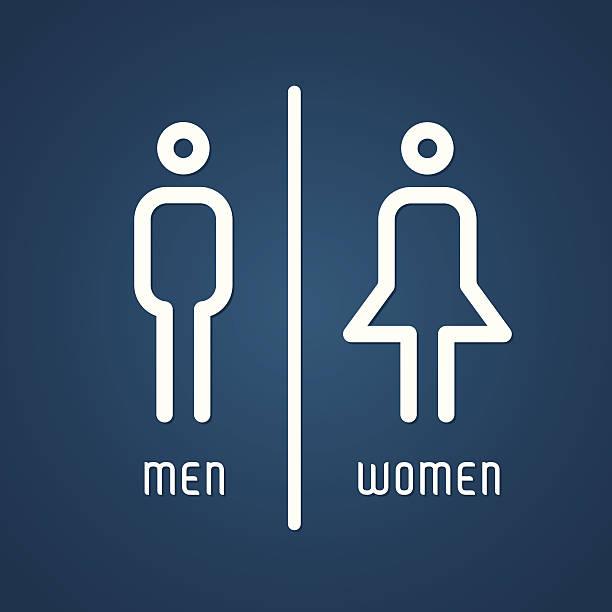 Restroom male and female sign vector art illustration