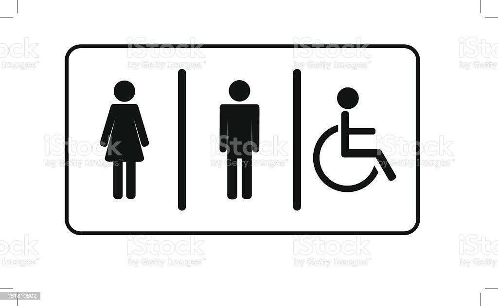 Restroom \\ toilette symbol vector art illustration