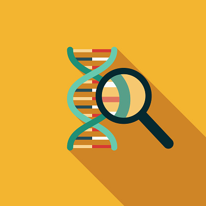 Dna Results Flat Design Genetic Testing Icon Stock Illustration - Download Image Now