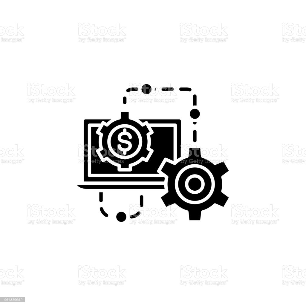 Results of the work black icon concept. Results of the work flat  vector symbol, sign, illustration. royalty-free results of the work black icon concept results of the work flat vector symbol sign illustration stock vector art & more images of abstract