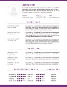 Resume and cv vector template