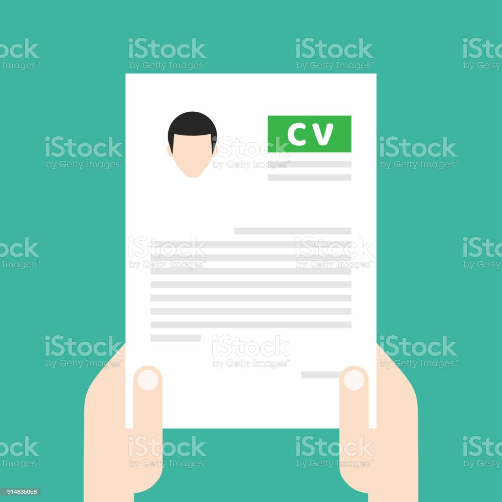 Resume Cv Find Person For Job Opportunity Vector