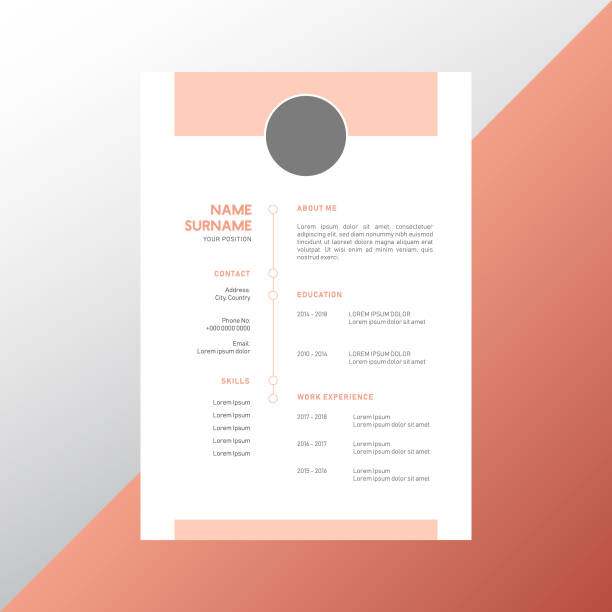 CV Resume Design CV Resume Design resume templates stock illustrations