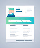 Resume curricula vitae job application design concept with space for your content.