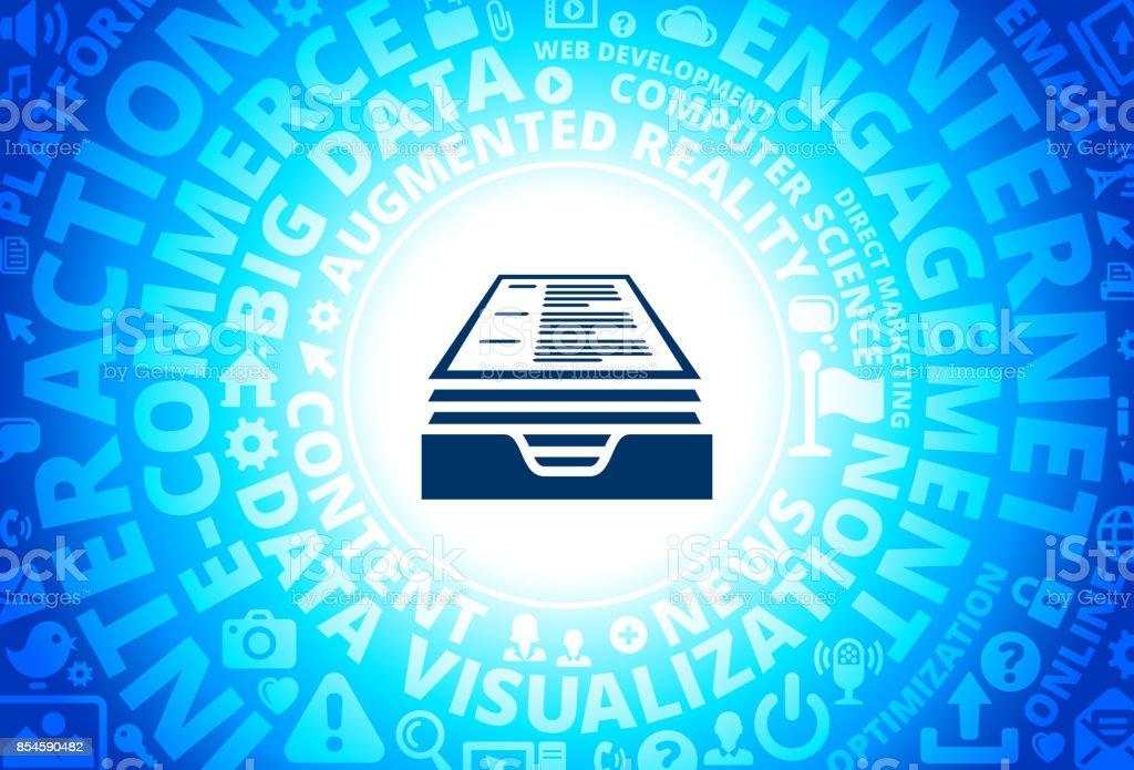 Resume Icon On Internet Modern Technology Words Background Stock