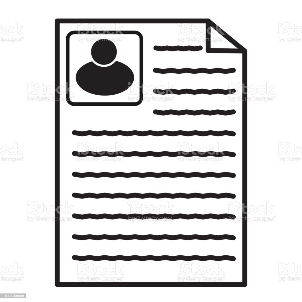 Resume Icon On White Background Flat Style Resume Icon For Your