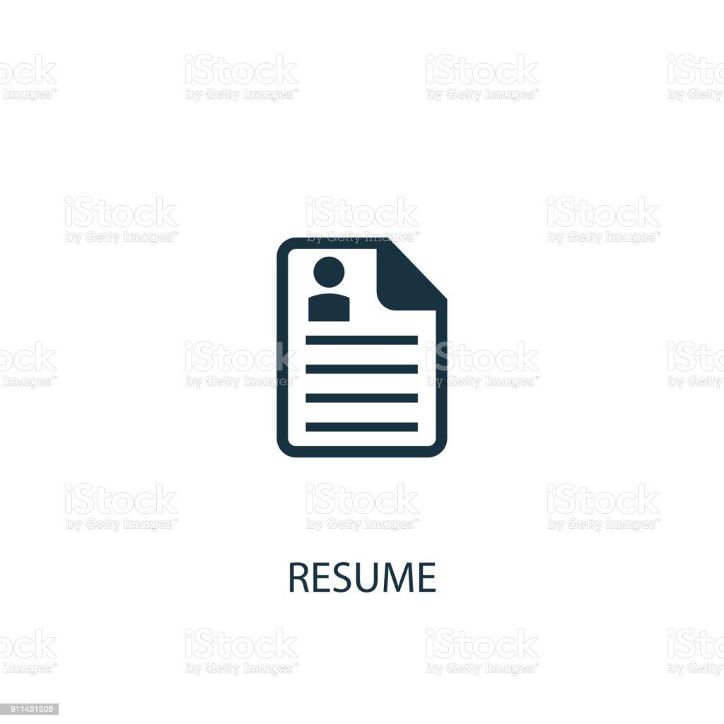 Resume Icon Simple Element Illustration Stock Vector Art & More ...