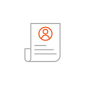 Resume Icon with Editable Stroke