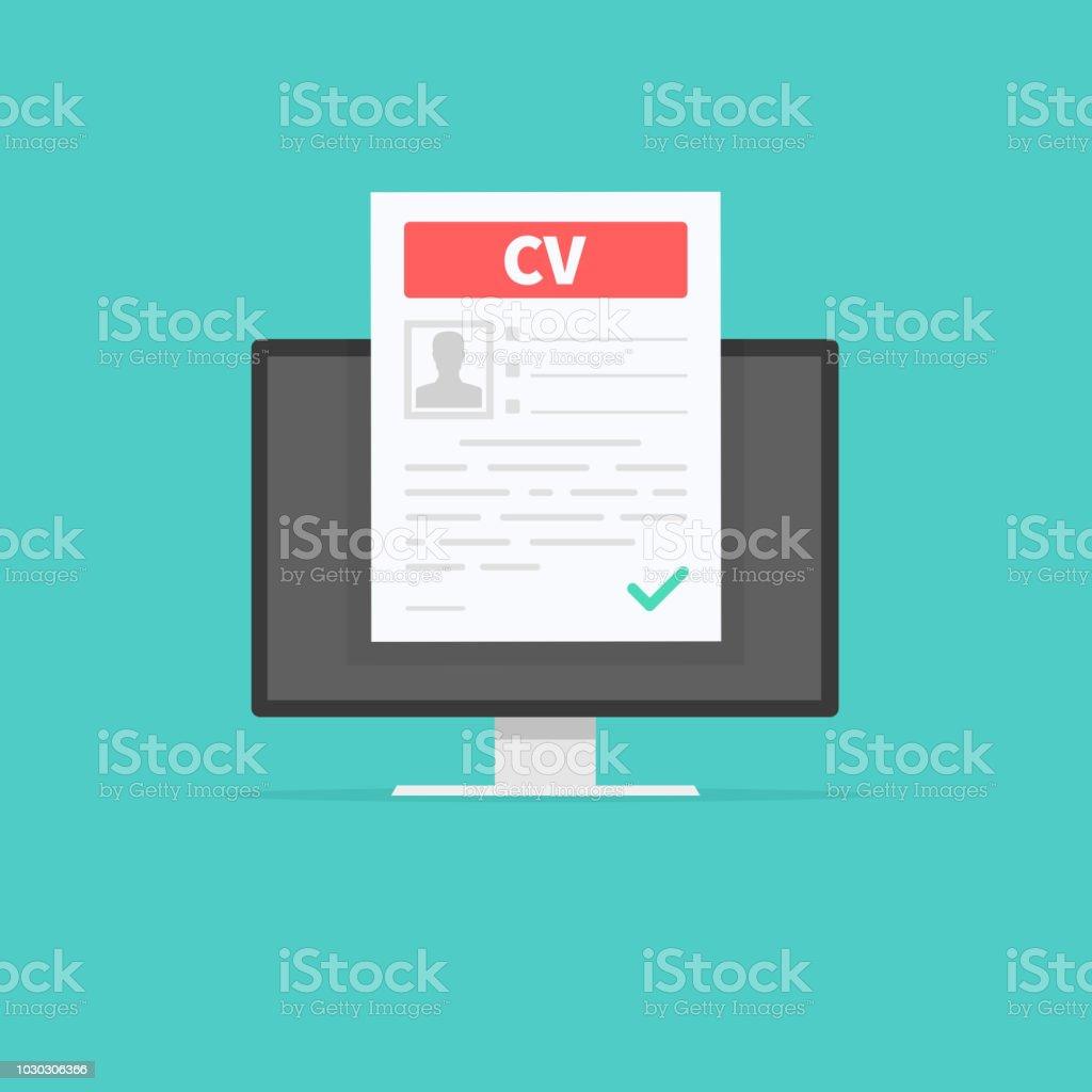 Ilustracion De Curriculum Vitae Cv Concepto De Entrevista De Trabajo