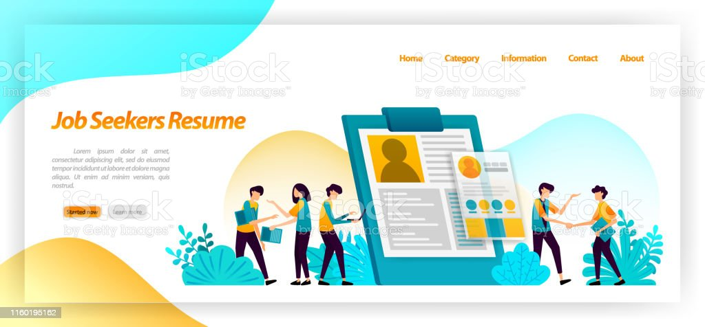 Resume Job Seekers Application Form To Find Workers Or Employees For Company Jobs Interviews Flat Vector Illustration Concept Can Be Use For Landing Page Template Ui Ux Web Mobile App Poster Banner