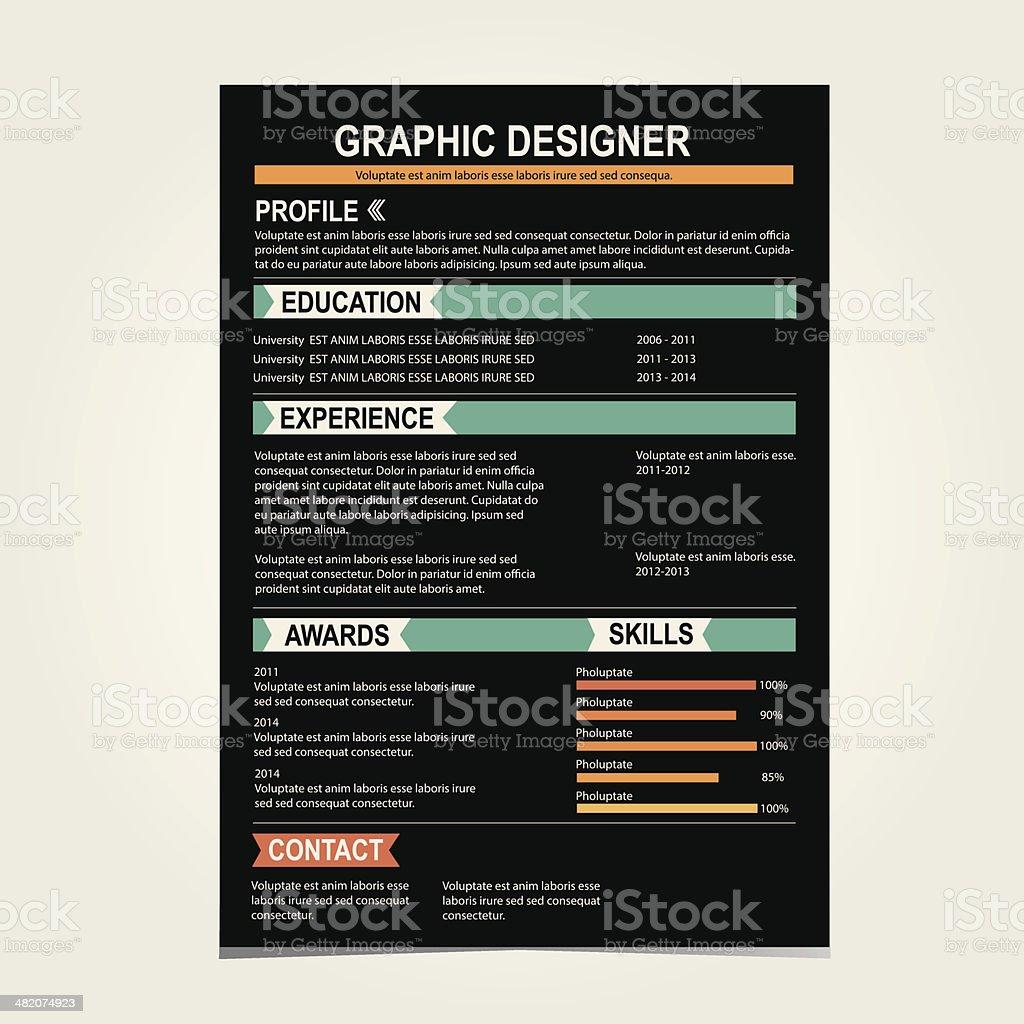 Lebenslauf Vorlage Cv Kreative Hintergrund Stock Vektor Art und mehr ...