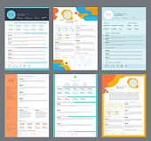 Resume template. Minimalist business curriculum elegant letter modern cv job search vector. Illustration cv for work, minimalist application interview
