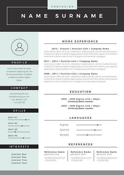 Best Resume Templates Illustrations Royalty Free Vector